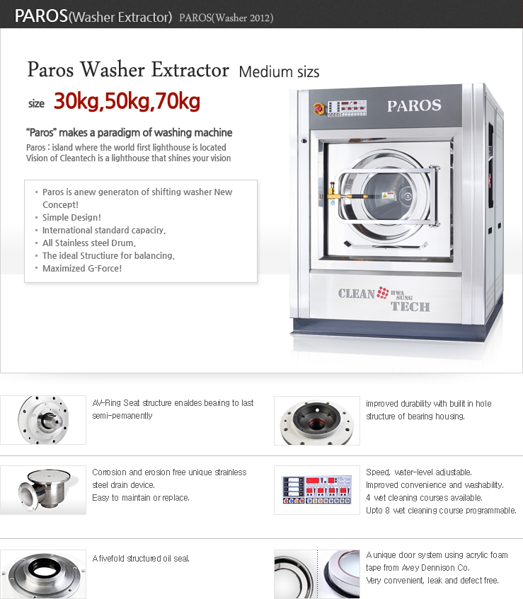High advance technology os Paros 30-50-70kg